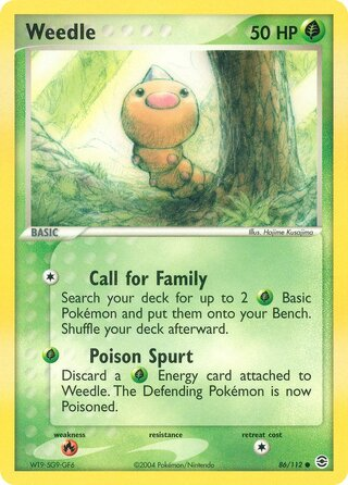 Weedle (EX FireRed & LeafGreen 86/112)