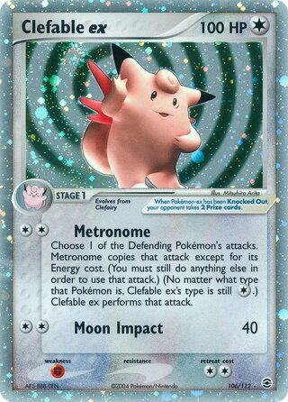 Clefable ex (EX FireRed & LeafGreen 106/112)