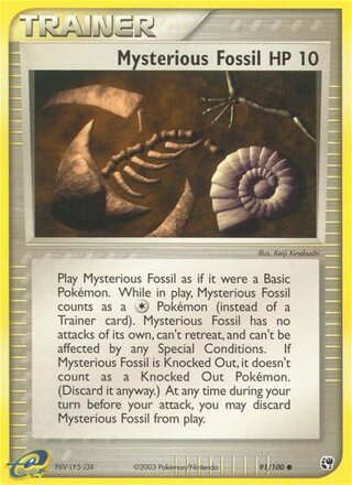Mysterious Fossil (EX Sandstorm 91/100)