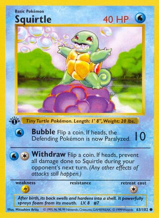 Squirtle (Base Set 63/102)