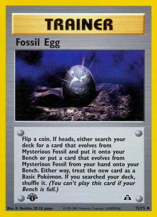 Fossil Egg (Neo Discovery 72/75)