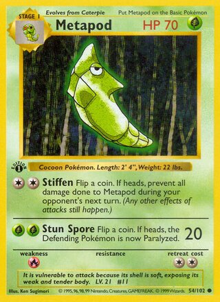Metapod (Base Set 54/102)
