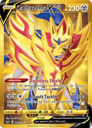 Zamazenta V (Sword & Shield 212/202)