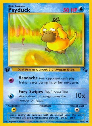 Psyduck (Fossil 53/62)