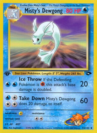 Misty's Dewgong (Gym Challenge 54/132)