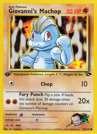 Giovanni's Machop (Gym Challenge 72/132)