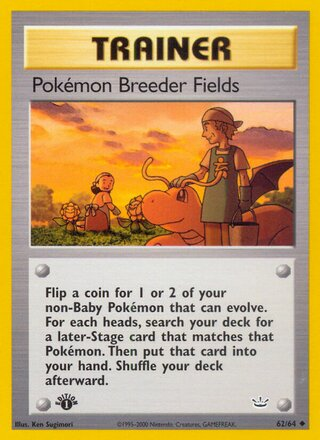 Pokémon Breeder Fields (Neo Revelation 62/64)