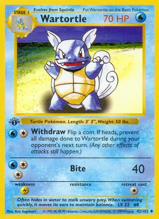 Wartortle (Base Set 42/102)