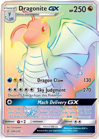 Dragonite-GX (Unified Minds 248/236)