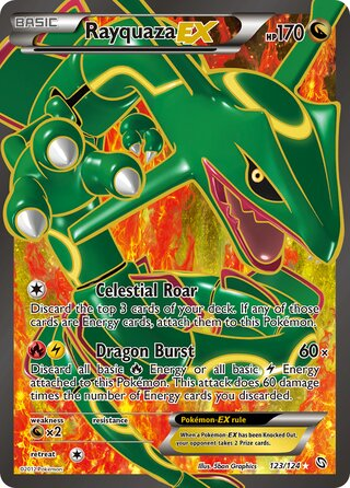 Rayquaza-EX (Dragons Exalted 123/124)