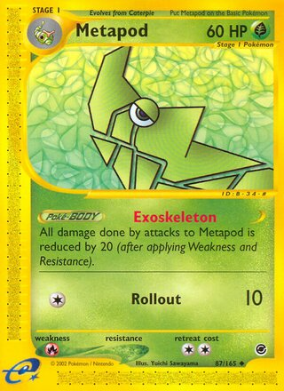 Metapod (Expedition Base Set 87/165)