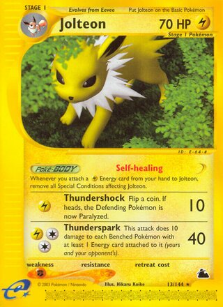 Jolteon (Skyridge 13/144)