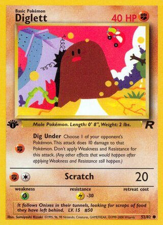 Diglett (Team Rocket 52/82)