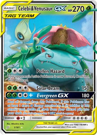 Celebi & Venusaur-GX (Team Up 1/181)