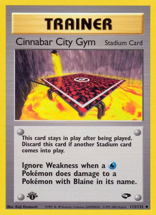 Cinnabar City Gym (Gym Challenge 113/132)
