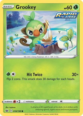 Grookey (Chilling Reign 016/198)