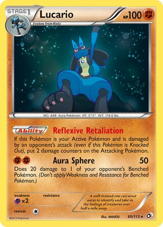 Lucario (Legendary Treasures 80/113)