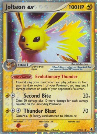 Jolteon ex (EX Delta Species 109/113)