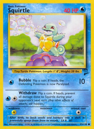 Squirtle (Base Set 2 93/130)