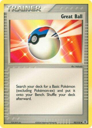 Great Ball (EX FireRed & LeafGreen 92/112)