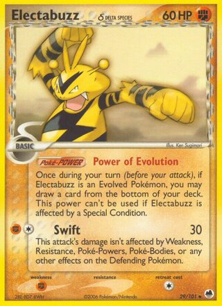 Electabuzz δ (EX Dragon Frontiers 29/101)