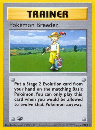Pokémon Breeder (Base Set 76/102)