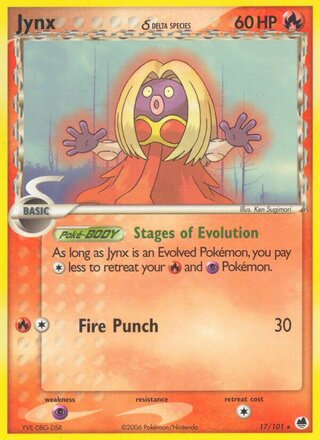Jynx δ (EX Dragon Frontiers 17/101)