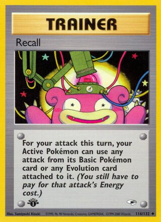 Recall (Gym Heroes 116/132)