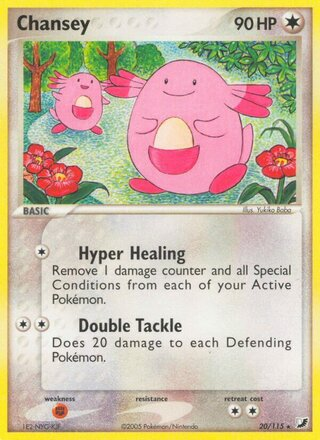 Chansey (EX Unseen Forces 20/115)