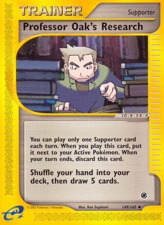 Professor Oak's Research (Expedition Base Set 149/165)
