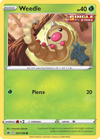 Weedle (Chilling Reign 001/198)