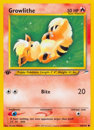 Growlithe (Neo Destiny 68/105)