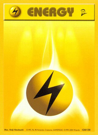 Lightning Energy (Base Set 2 128/130)
