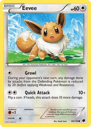 Eevee (Plasma Freeze 89/116)