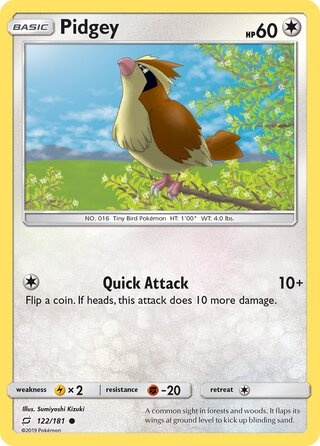 Pidgey (Team Up 122/181)