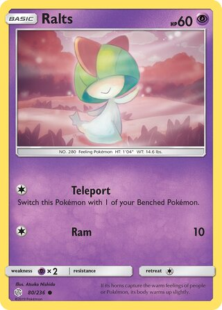 Ralts (Cosmic Eclipse 80/236)