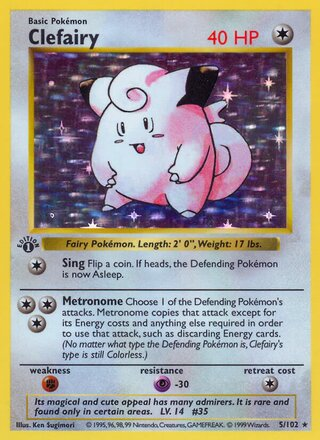 Clefairy (Base Set 5/102)