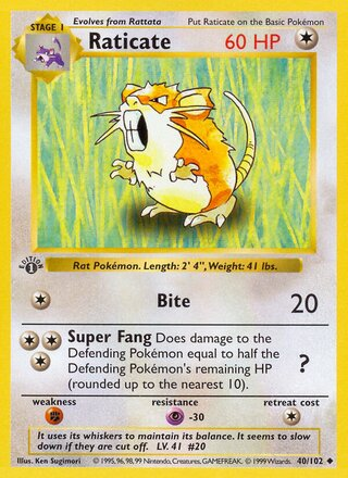 Raticate (Base Set 40/102)