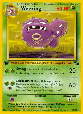 Weezing (Fossil 45/62)