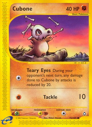 Cubone (Aquapolis 72/147)