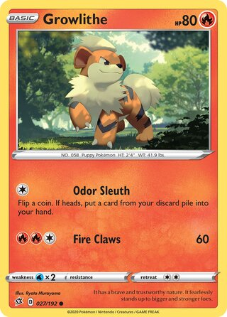 Growlithe (Rebel Clash 027/192)