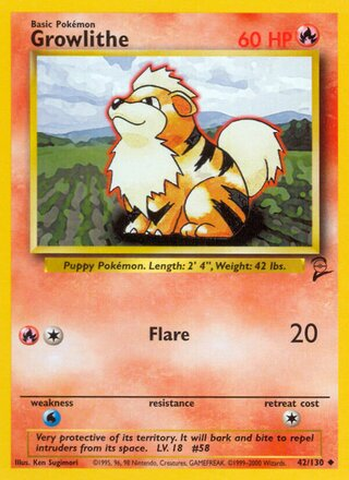 Growlithe (Base Set 2 42/130)