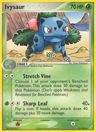 Ivysaur (EX Crystal Guardians 35/100)