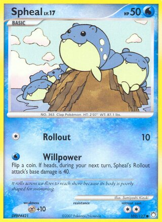 Spheal (Mysterious Treasures 102/123)