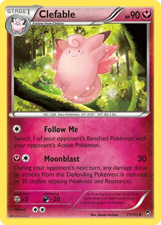 Clefable (Furious Fists 71/111)