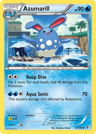 Azumarill (Boundaries Crossed 37/149)