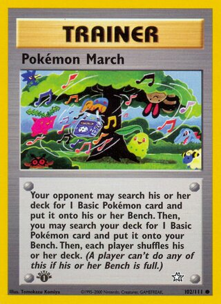 Pokémon March (Neo Genesis 102/111)