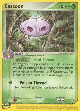 Cascoon (EX Ruby & Sapphire 26/109)