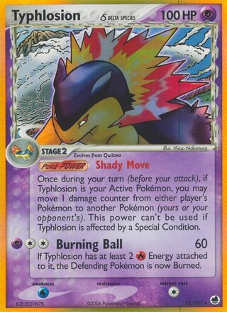 Typhlosion δ (EX Dragon Frontiers 12/101)