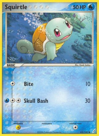 Squirtle (EX Crystal Guardians 63/100)